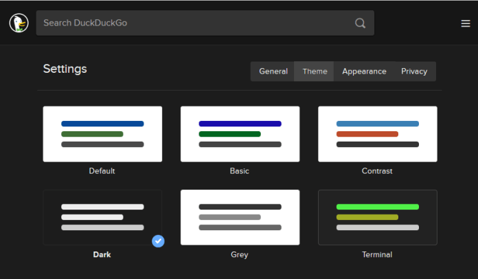 An improved Dark Theme in DuckDuckGo is one of numerous ways to customise search results