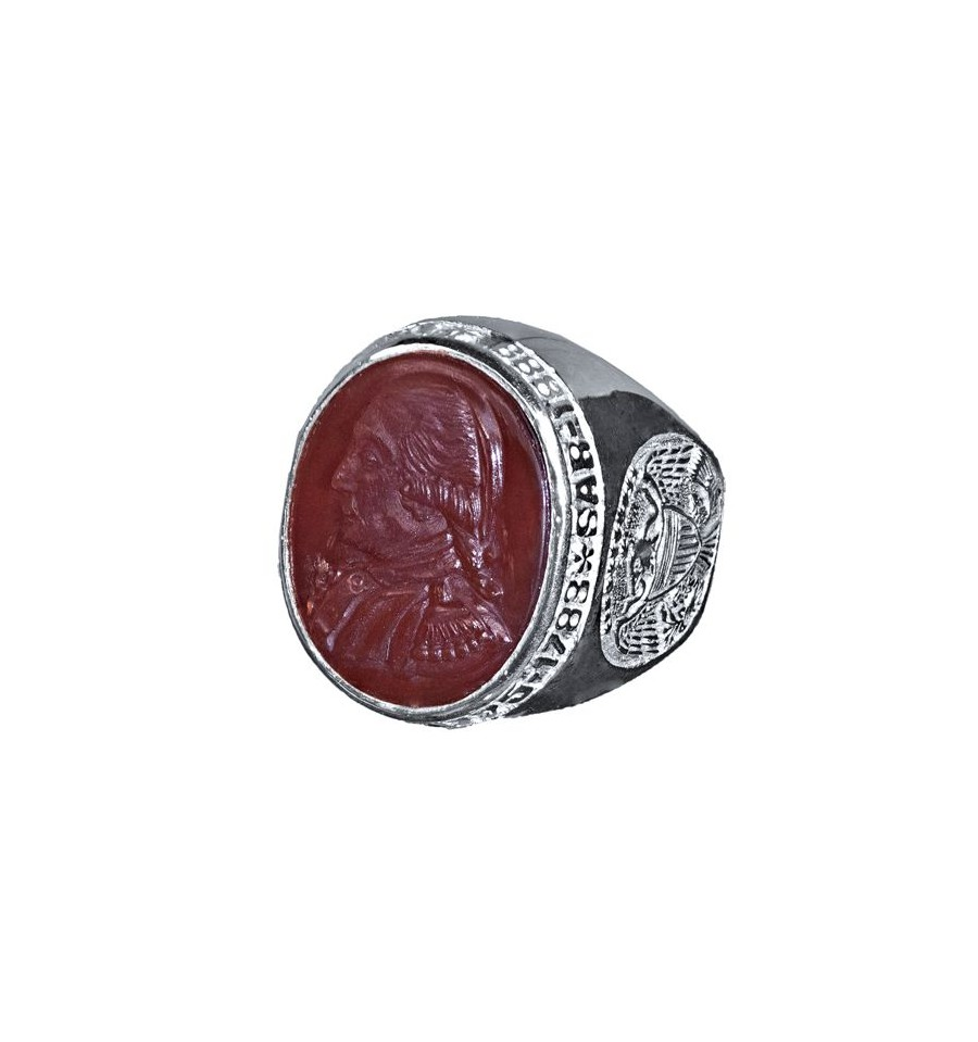 SAR Membership Ring Red Agate Amp Sterling Silver Regnas