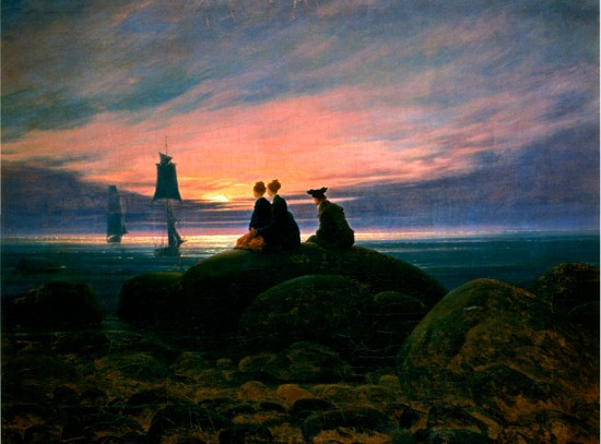 Mondaufgang Am Meer af Caspar David Friedrich