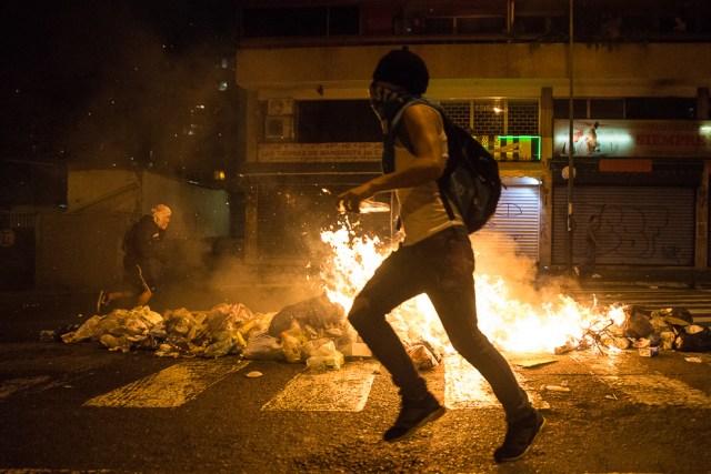 Portestas en Caracas 15 de Febrero 2014