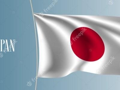 japan waving flag