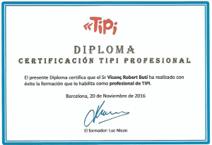 Foto Diploma TIPI de Vicenç Robert