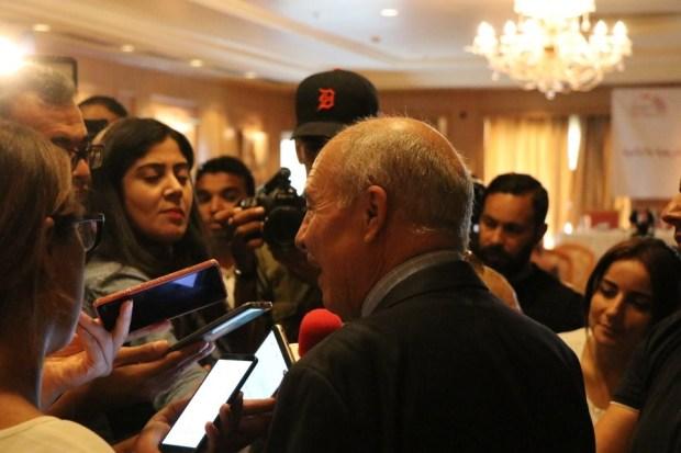 Nouri Lajmi, Président de la HAICA, en conférence de presse pour présenter le rapport des élections législatives et présidentielles de 2019, Tunis.