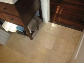 Hall Bath floor tranistion
