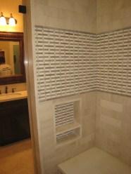 Inside the shower.
