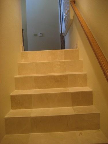 Crema Marfil Tile Stairs
