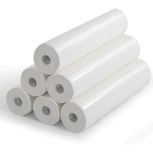 Fisiotech Paper Roll [Pack of 6] Cellulose Double Ply, Medical Paper Roll for Rehabilitation, Examination, Therapy Couches (120060)