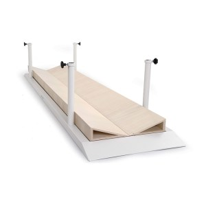 FISIOTECH Set of 2- Inclined Platforms for Parallel Bars – Concave or Convex Walking Surface for Rehab Exercises (131230)