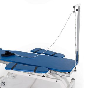 Fisiotech Removable Pole for Postural Series POSEIDONE.2 Couch [125010] Easy Height Adjustment with Ankle Strap, Rope, Pulley – Lower Limb Rehab Accessories
