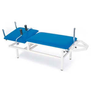 FISIOTECH Dafne Couch – 2 Section Fixed Height Couch, Sliding Main Section, Under-bed Clearance for Physiotherapy, Rehab Therapy, Examination (114020)