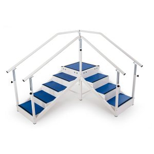 TWO FLIGHT STAIRS Exercise Parallel Bars w/ Adjustable Handrails for Physical Therapy (132030)