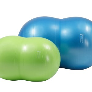 Gymnic Physio Roll Plus 70 BRQ, Blue, Saddle Shape Ball for Movement & Balance Physiotherapy