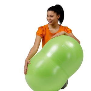 Gymnic Physio Roll Plus 55 BRQ, Green, Saddle Shape Ball for Movement & Balance Physiotherapy