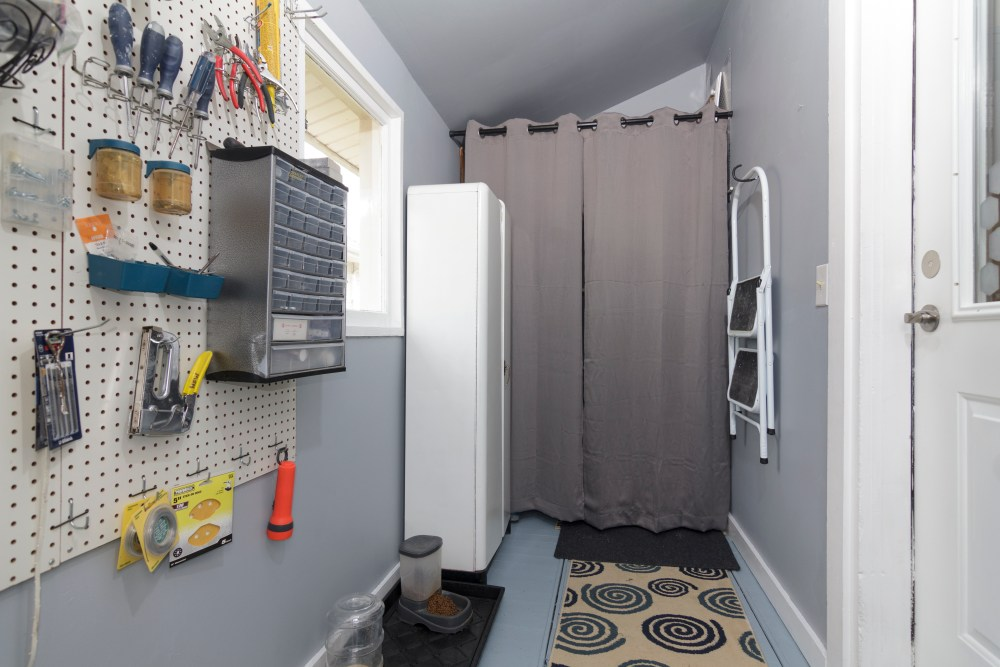 Mudroom in a 1930's bungalow.