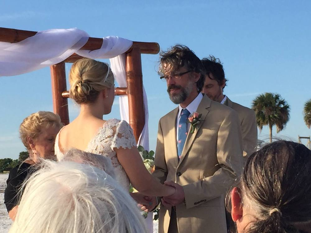 Honeymoon Island beach wedding.