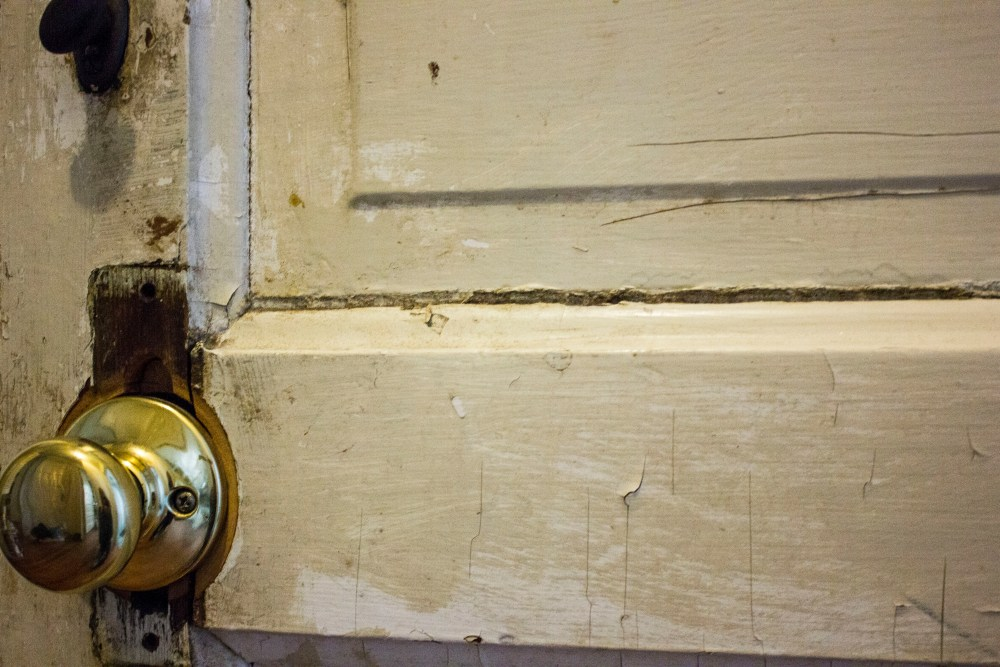 How to scrape paint on old doors and windows.