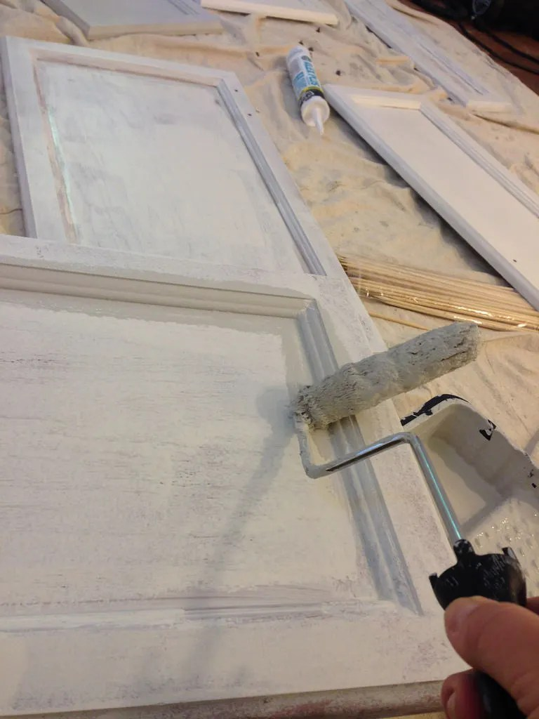 Painting cabinets without sanding and using a shellac primer.