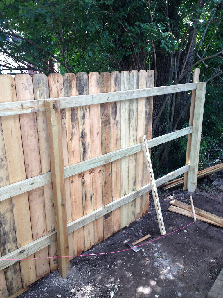 How to install a privacy fence.