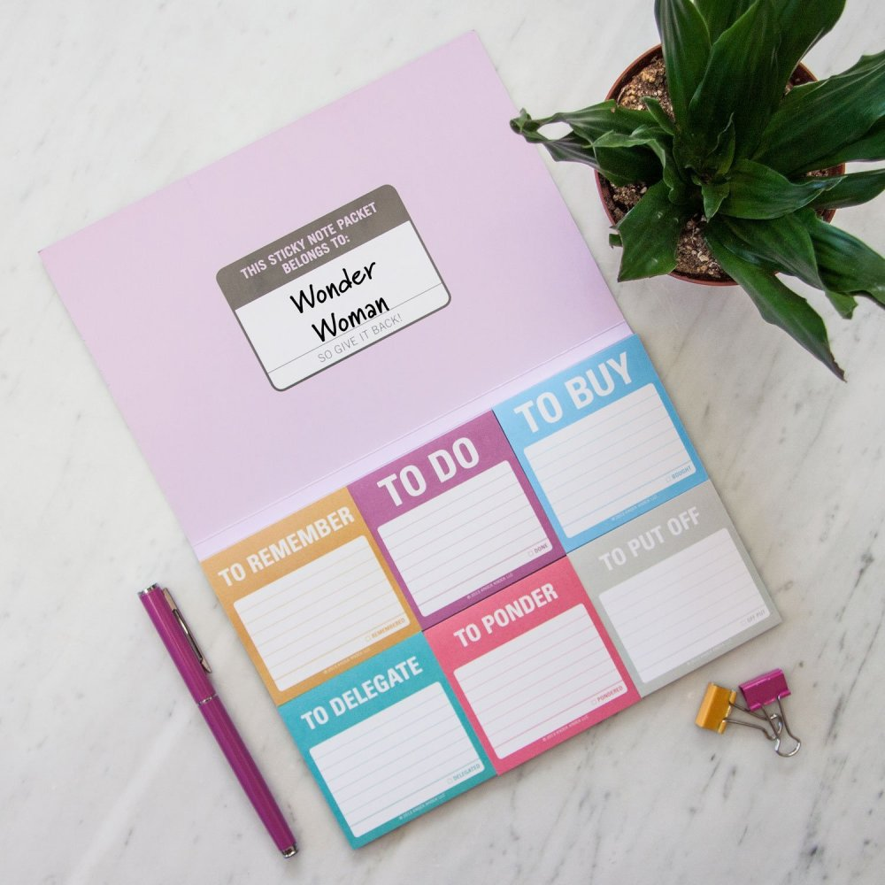 Home renovation gifts, sticky notes for organization