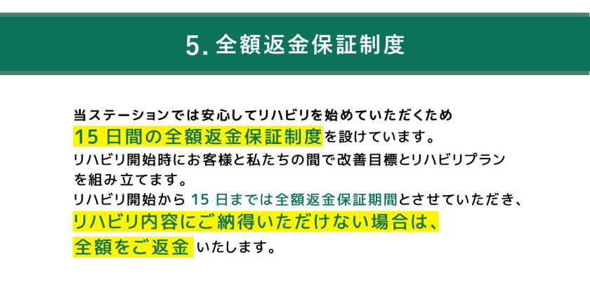 5.全額返金保証制度の画像