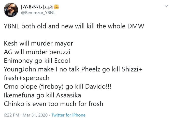 """YBNL vs DMW – Which Record Label Do You Think Will Win When It's Come To """"Number Of Hit Songs"""""""