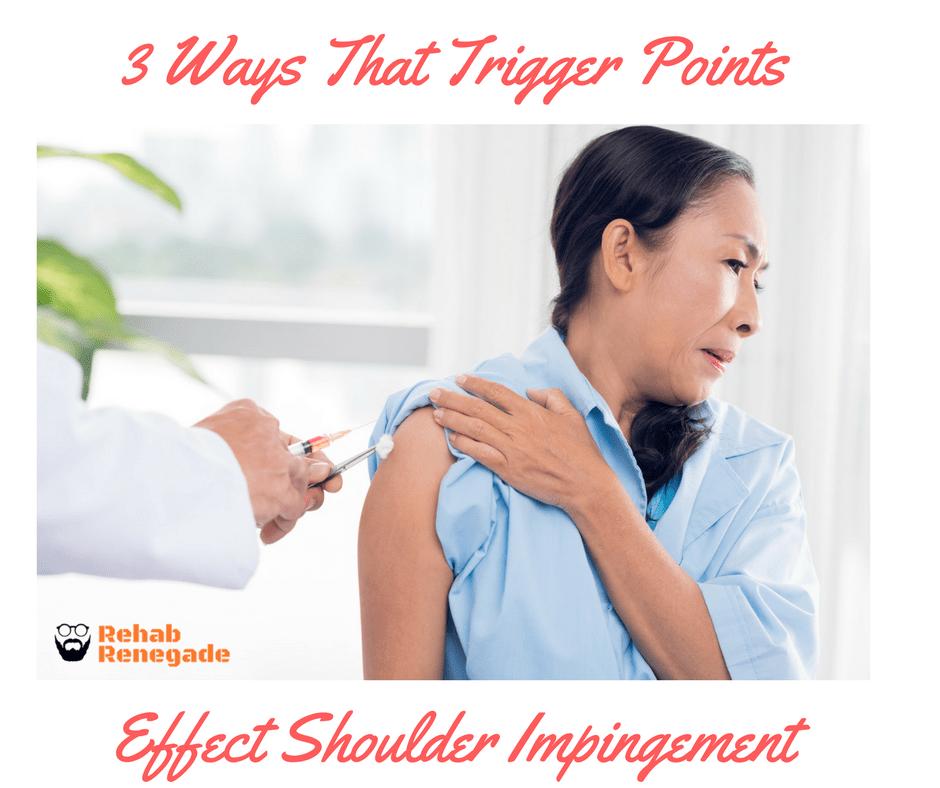 trigger points, shoulder impingement
