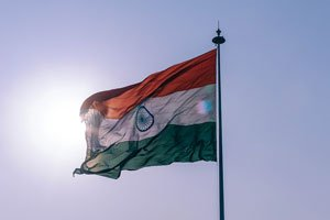 indian flag in wind