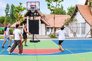 active basketball court