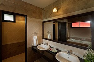 twin bathroom suite