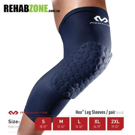 MCDAVID 6446 Navy Hex™ Leg Sleeves Rehabzone Singapore