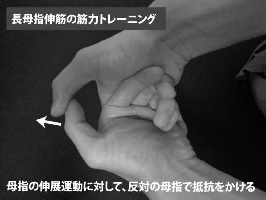 長母指伸筋の筋力トレーニング