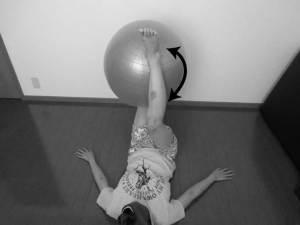 バランスボールを用いたリハビリ方法2