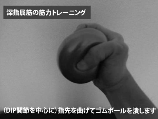 深指屈筋の筋力トレーニング