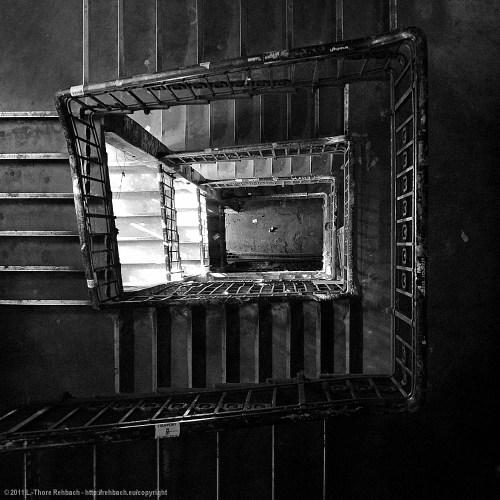 Treppenhaus im Tacheles - Vogelperspeltive