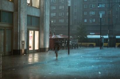 Hagel und Regen