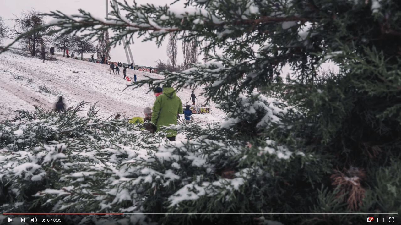 Winterspaß im Mauerpark
