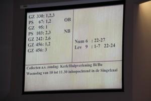 liturgiebord geprojecteerd