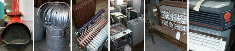Sample of heating and cooling products.