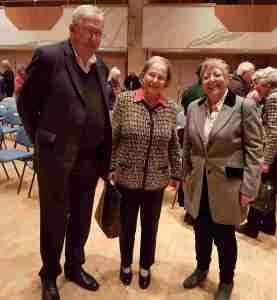 Hans Pieke, Barbara Probst und Urd Rothe 125. Geburtstag Edmund Nick im Sudetendeutsche Haus