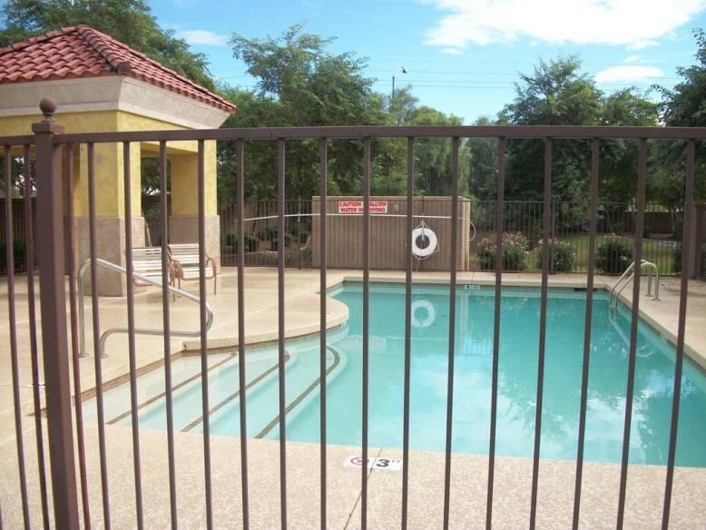 Non heated community pool