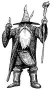 Sorcier Gandalf avec son baton