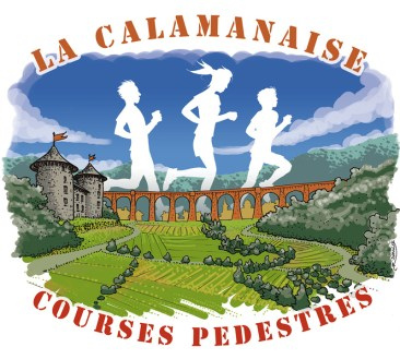 "Course pédestre ""La Calamanaise"" : illustration 2016 - version 1"