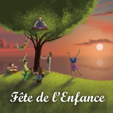 Fête de l'Enfance : illustration version carrée