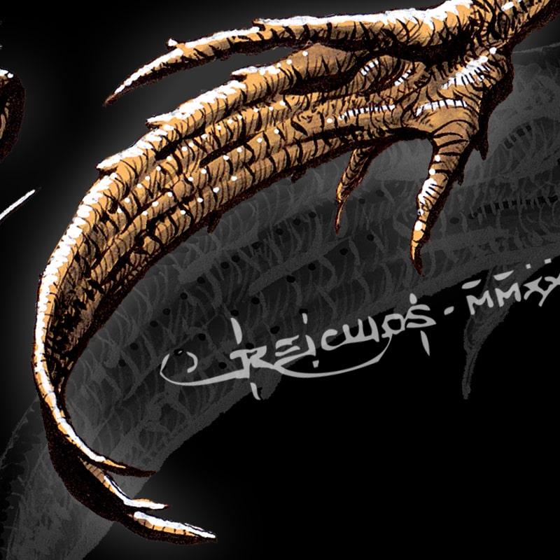 Dragon des Abysses - détail
