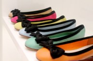A selection of colourful shoes