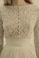 lace buttons dress