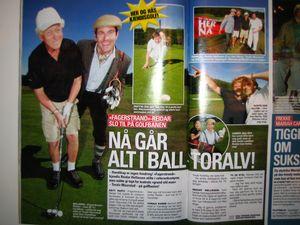 Moro å få spille golf med den dyktige skuespilleren Toralf Maurstad