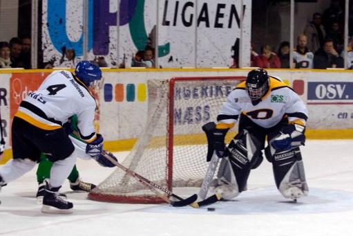Så fikk jeg være med i ishockeykamp mot selveste det berømte Tufte laget.