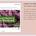 Facebook Advertising Text requirements, image text HIGH