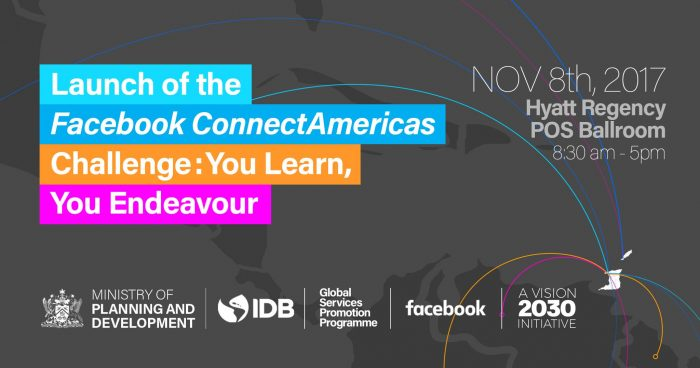 the branding for the event invite for The Facebook ConnectAmericas Challenge